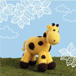 Crocheted Amigurumi Giraffe