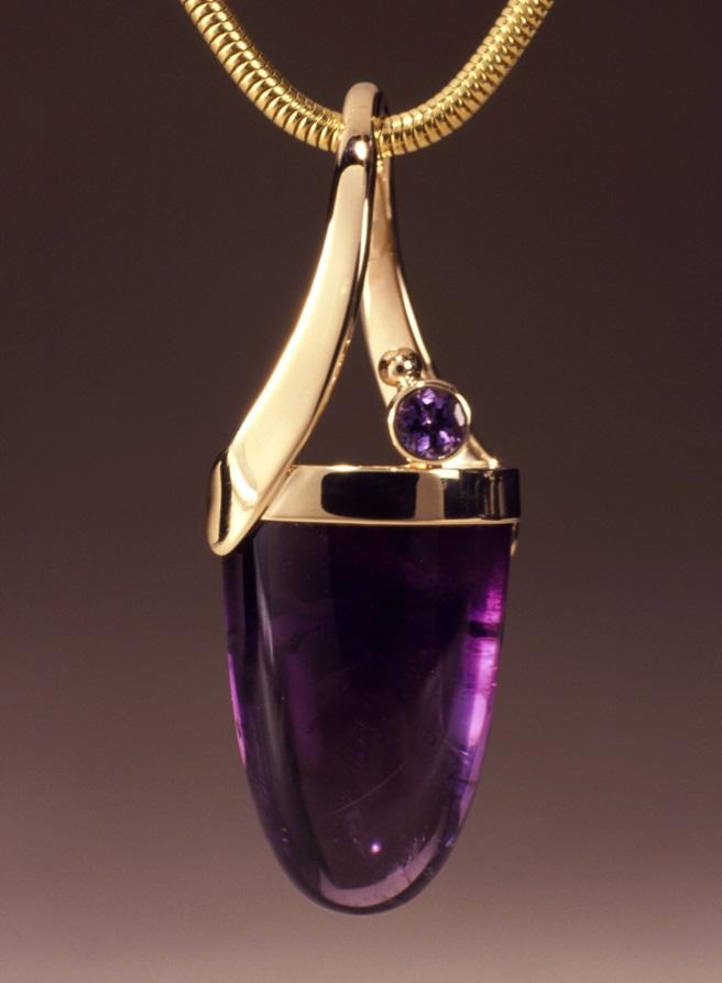 gemstone jewelry: Emily Chesick for Murphy Design amethyst pendant