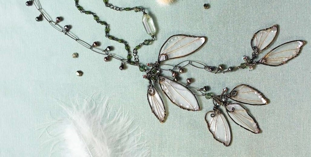 Cynthia Thornton's Woodland Wings resin wings necklace from Enchanted Adornments