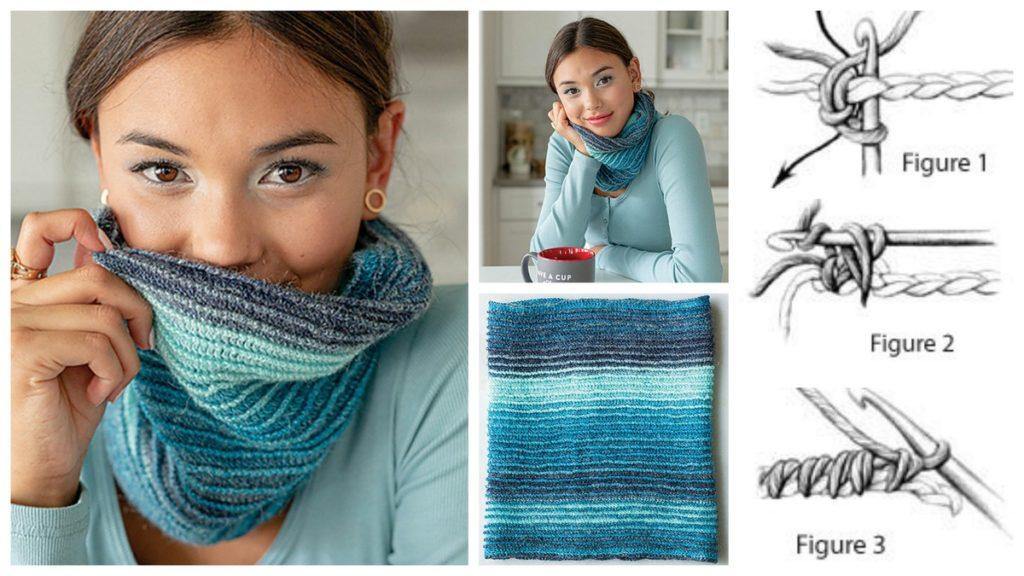 Esker crochet cowl