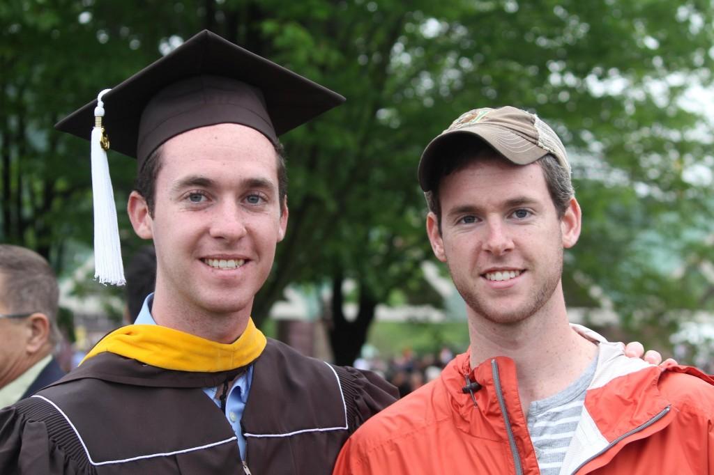 Lori's sons Evan, left, and Drew on Evan's graduation day.