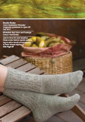 Eyelet Socks by Carol Huebscher Rhoades