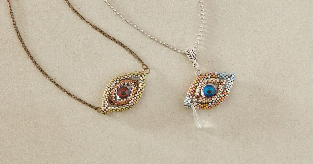 Eye of Horus Pendant by Marianna Zukowsky