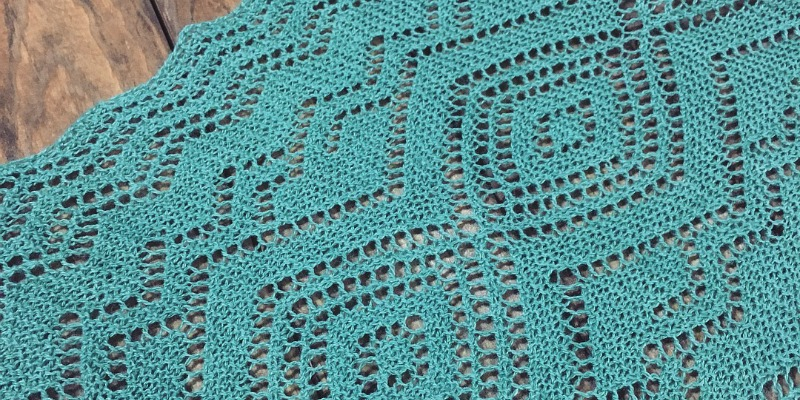 The Santa Fe Turquoise Trail Scarf: A Finished Object I Love Too Much