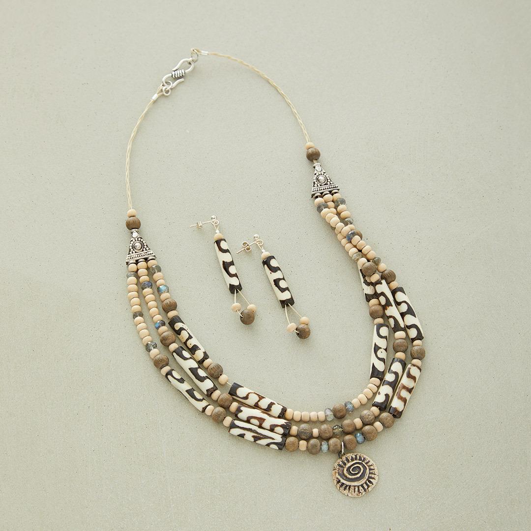 Kristen Fagan's Batik Goddess beaded bead stringing necklace