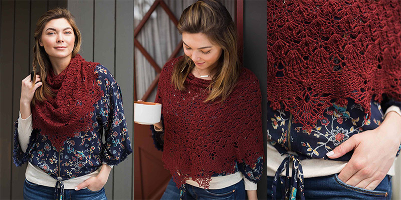 Fall River Shawl Kit: 5 Reasons It's the Crochet Shawl You Need for Fall!