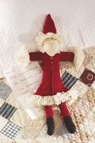 Learn how to make this free knitted toy pattern, Father Christmas. This holiday knitted pattern in found in our free Knitting Gifts eBook.