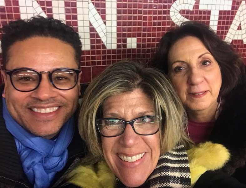 Fernando DaSilva, Sandra Lupo, Tammy Honaman, jewelry on display in the Swarovski showroom]