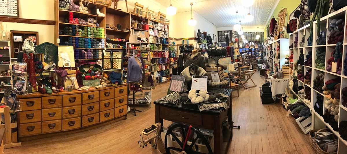 Inside the Cowgirl Yarn shop in Wyoming!