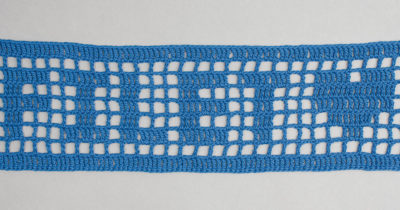 filet crochet Photo by Sharon Zientara.