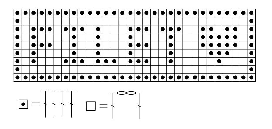 filet crochet chart diagram