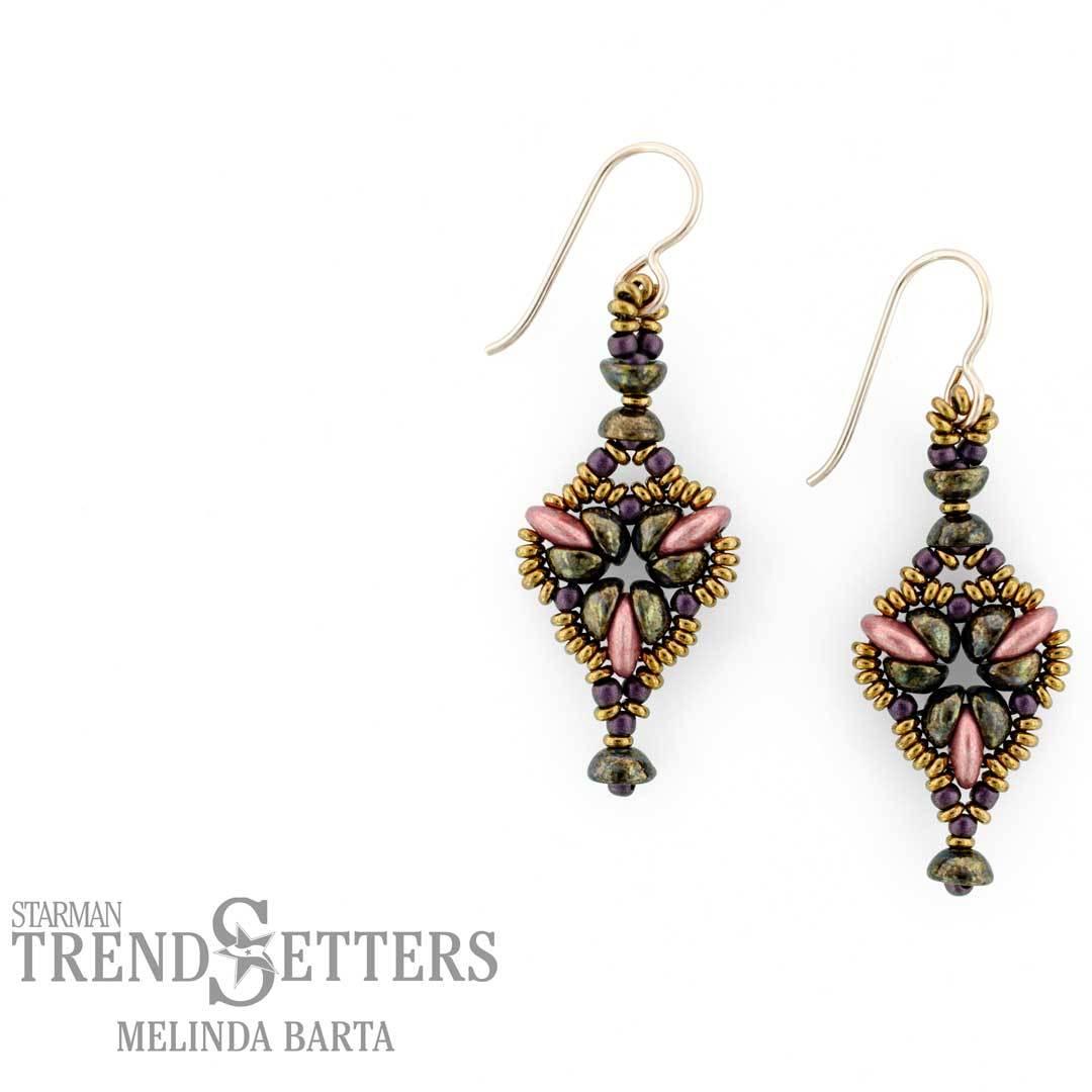Melinda Barta's Fleur-De-Lis earrings