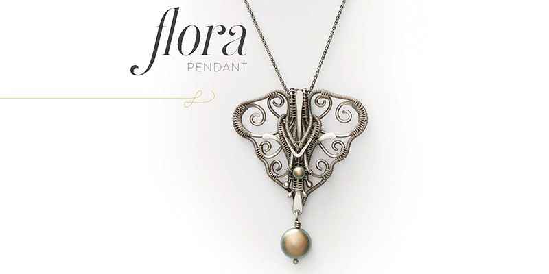 <em>Woven in Wire</em> Jewelry: The Flora Pendant