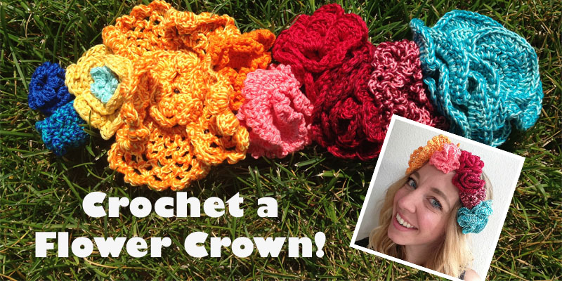 How to Crochet Yourself a Flower Crown  8cfbaa99fd3