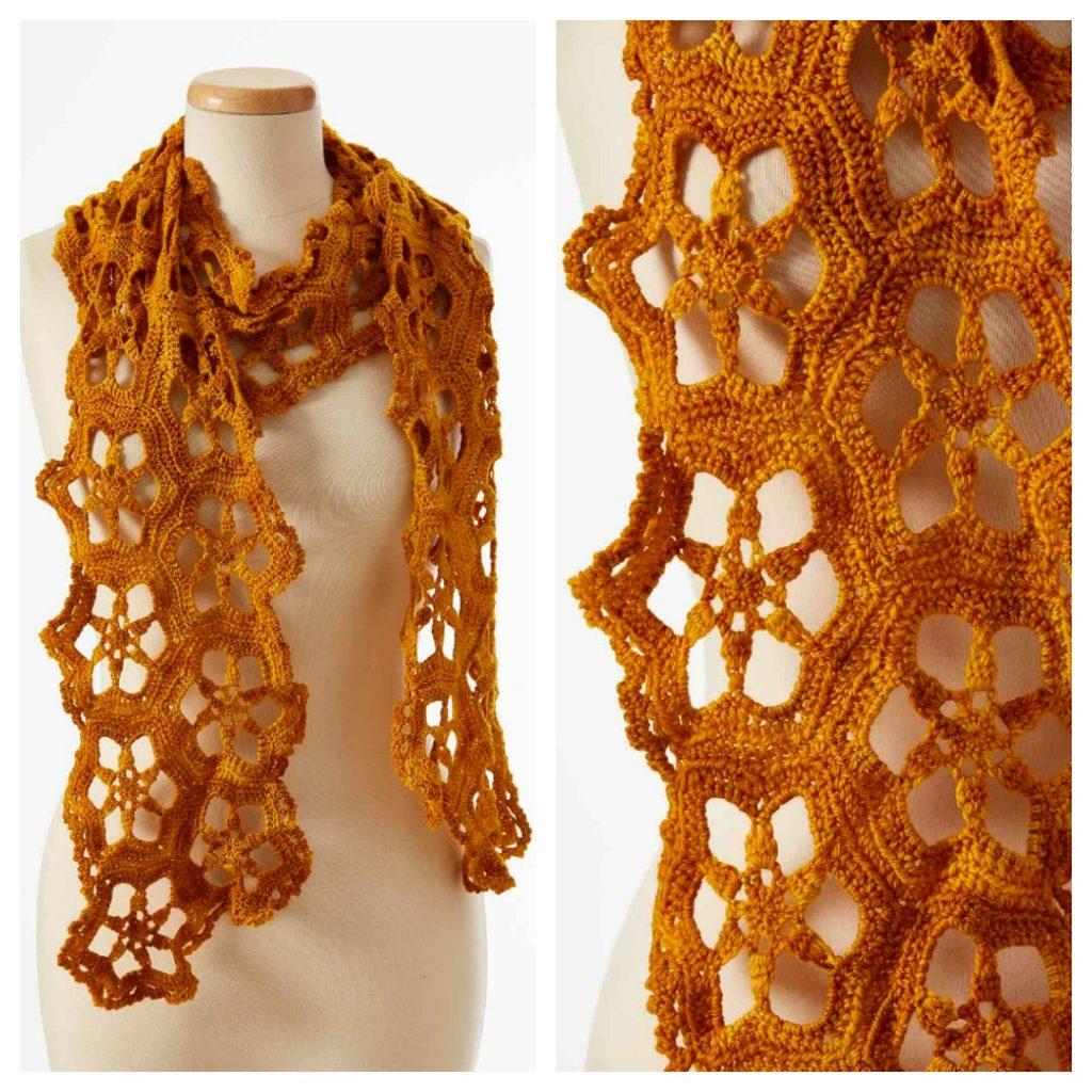 flower motif scarf patterns