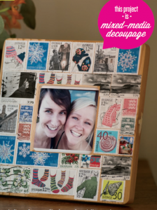 Foreign Stamp Frame  by Louisa Demmitt