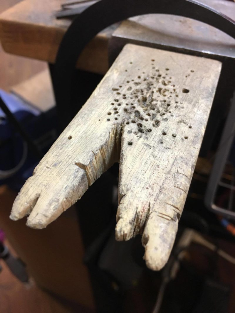 metalsmithing tools: Francesca Watson's bench pin