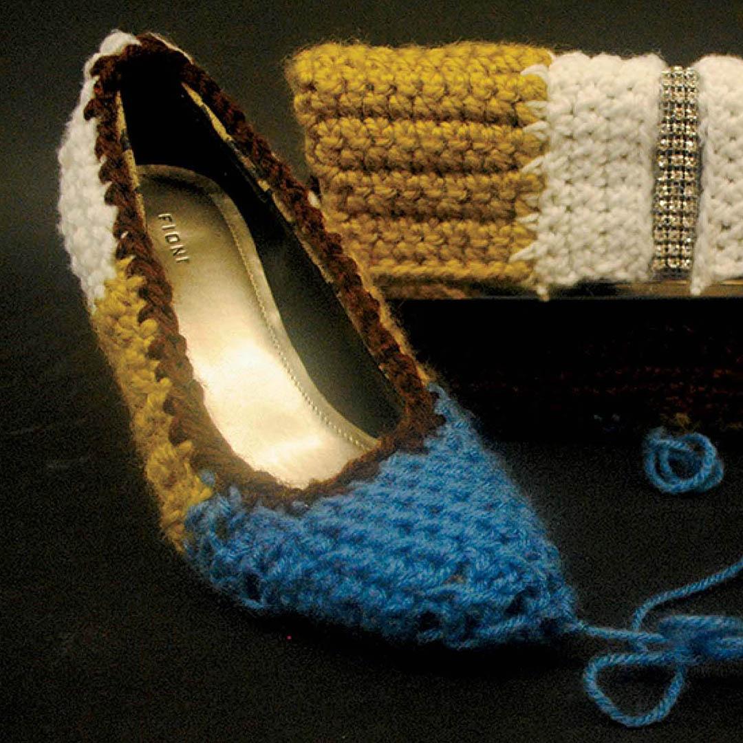 freestyle crocheted shoe