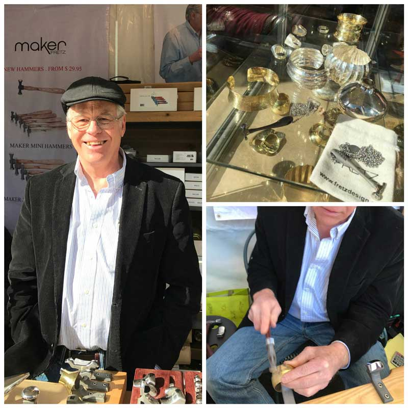 Jewelry Making, Jewelry Making Tools and Supplies, Gemstones Galore - Must be Tucson Time. Bill Fretz in his booth.