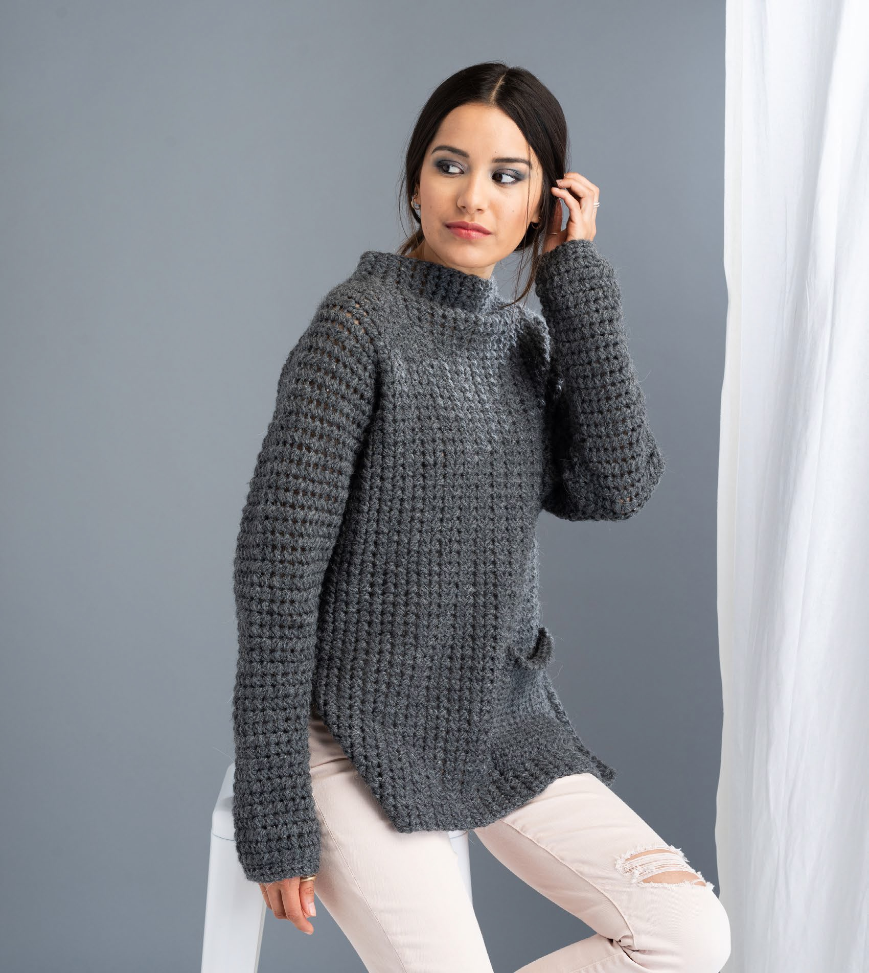 Fullerene Pullover by Jane Howorth from The Crochetist 2019 digital pattern collection