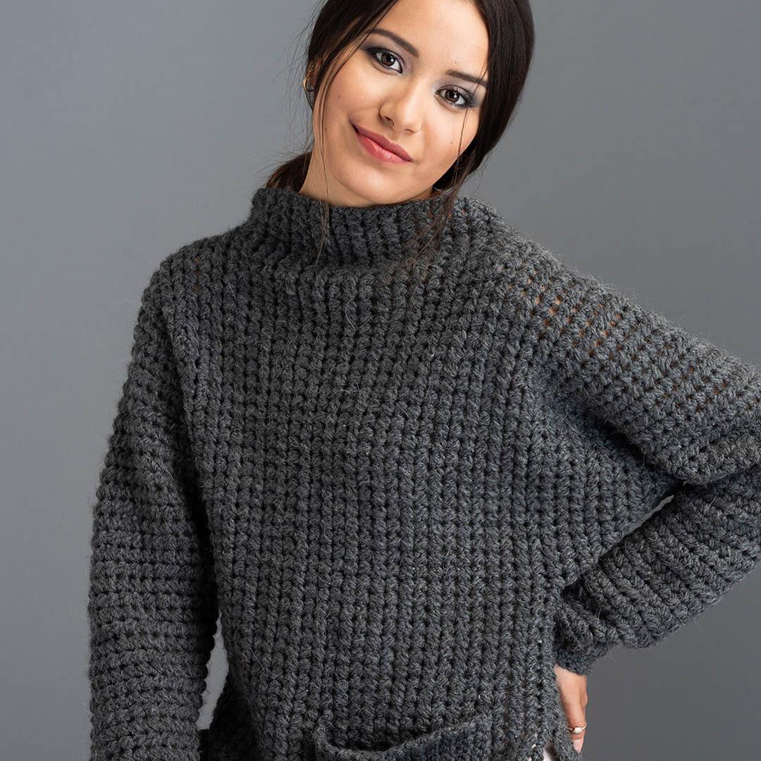 The Fullerene Pullover by Jane Howorth