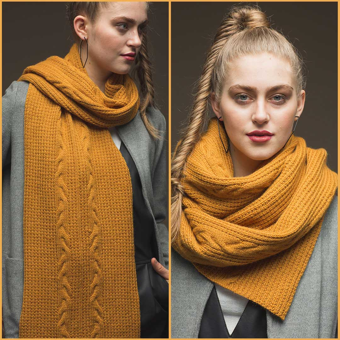 The Galileo Scarf by Neisha Abdulla from Wool Studio Vol. V | Photos by Harper Point Photography