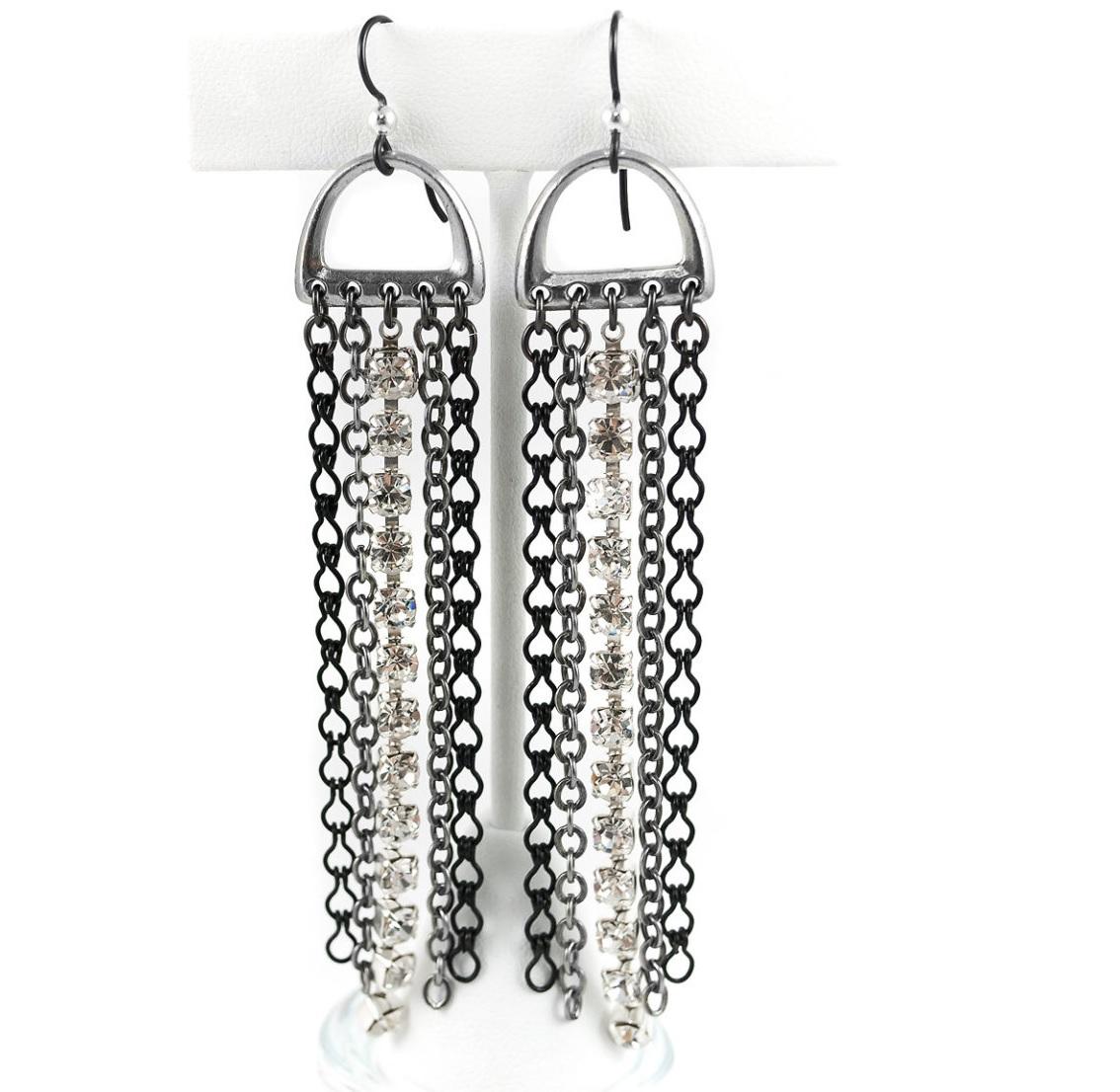 chain earrings by Tracy Gonzales