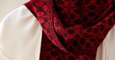overshot scarf