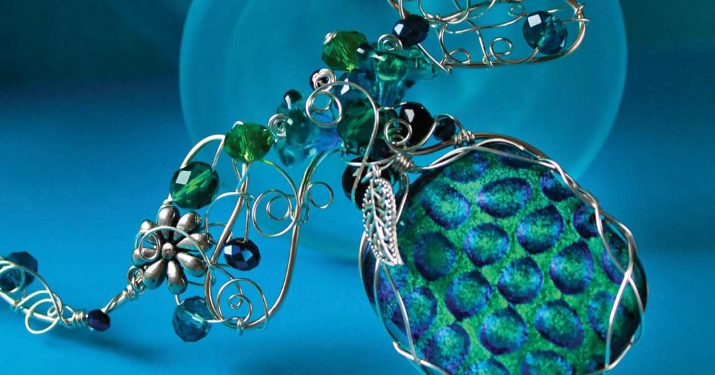 Statement Necklace by Gayle Bird, from Freeform Wire Art Jewelry
