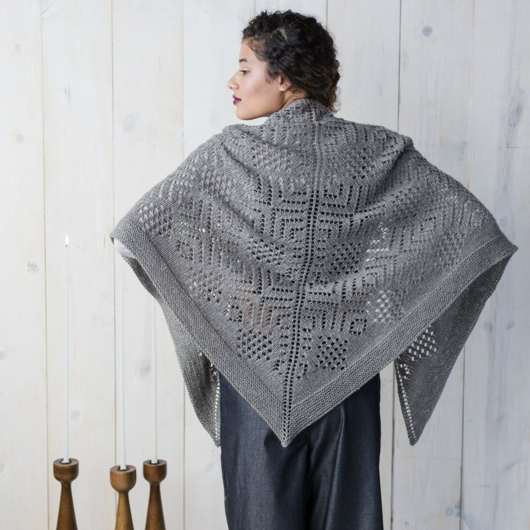 Geo-Snow Shawl | Photo by Harper Point Photography