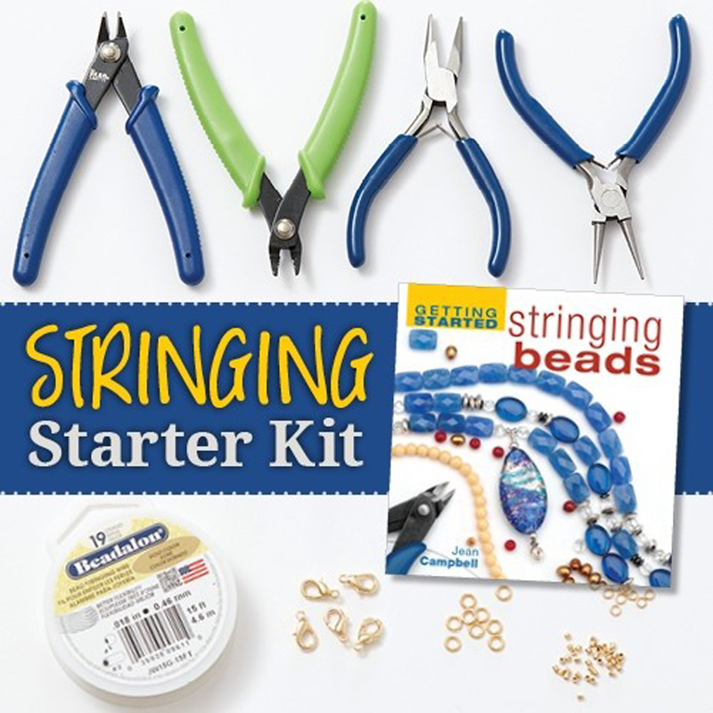 stringing starter kit is a perfect curated beading supply gift for your holiday shopping list