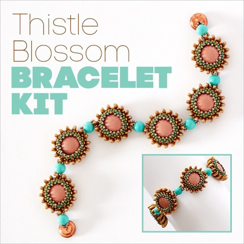 Thistle Blossom beading project in a kit, perfect for gifting this holiday season.