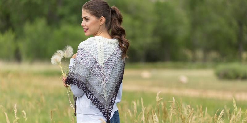Crochet the Gingko Shawl in a Speckled Yarn!