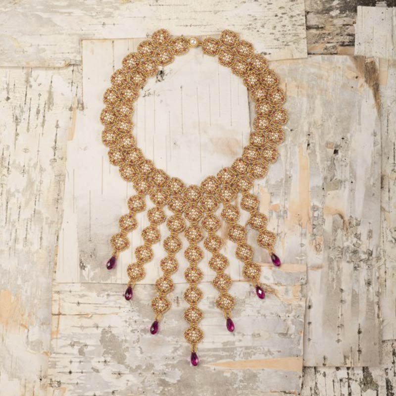 18 Luxurious Beaded Jewelry Designs with a Vintage Flair. Glitz and Glamour Necklace