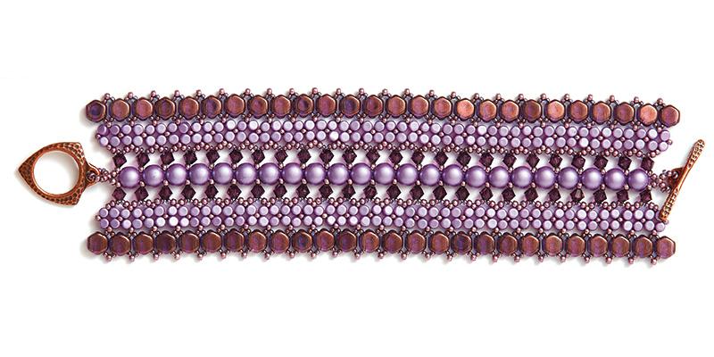 Hive Cuff Purple Colorway