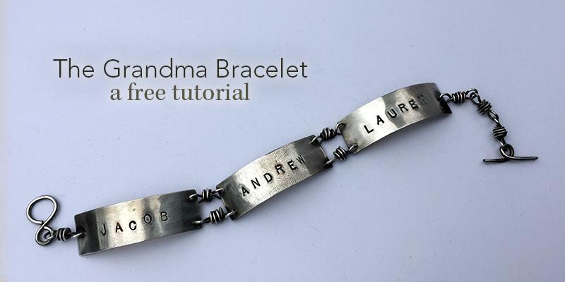 FREE Metal Stamping Bracelet Tutorial: The Grandma Bracelet