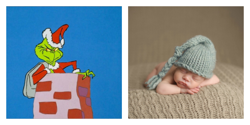 73af885246e Watch How the Grinch Stole Christmas while you knit a hat for a preemie.  Photos from imdb.com and Getty Images RealCreation.