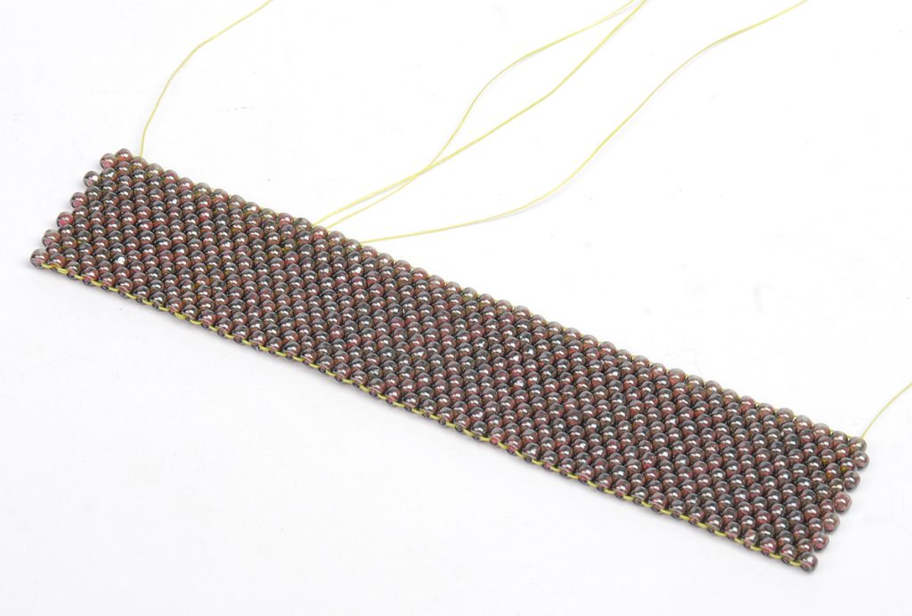 Hill Tribe Silver Fringe Peyote Bracelet, by Tammy Honaman. Peyote Bead Weaving instructions Step 1a