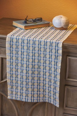 Indigo and Alabaster Table Runner by Beth Mullins