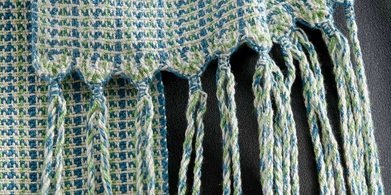 Handwoven Knotty Macramé Scarf with Free Macramé Fringe Instructions