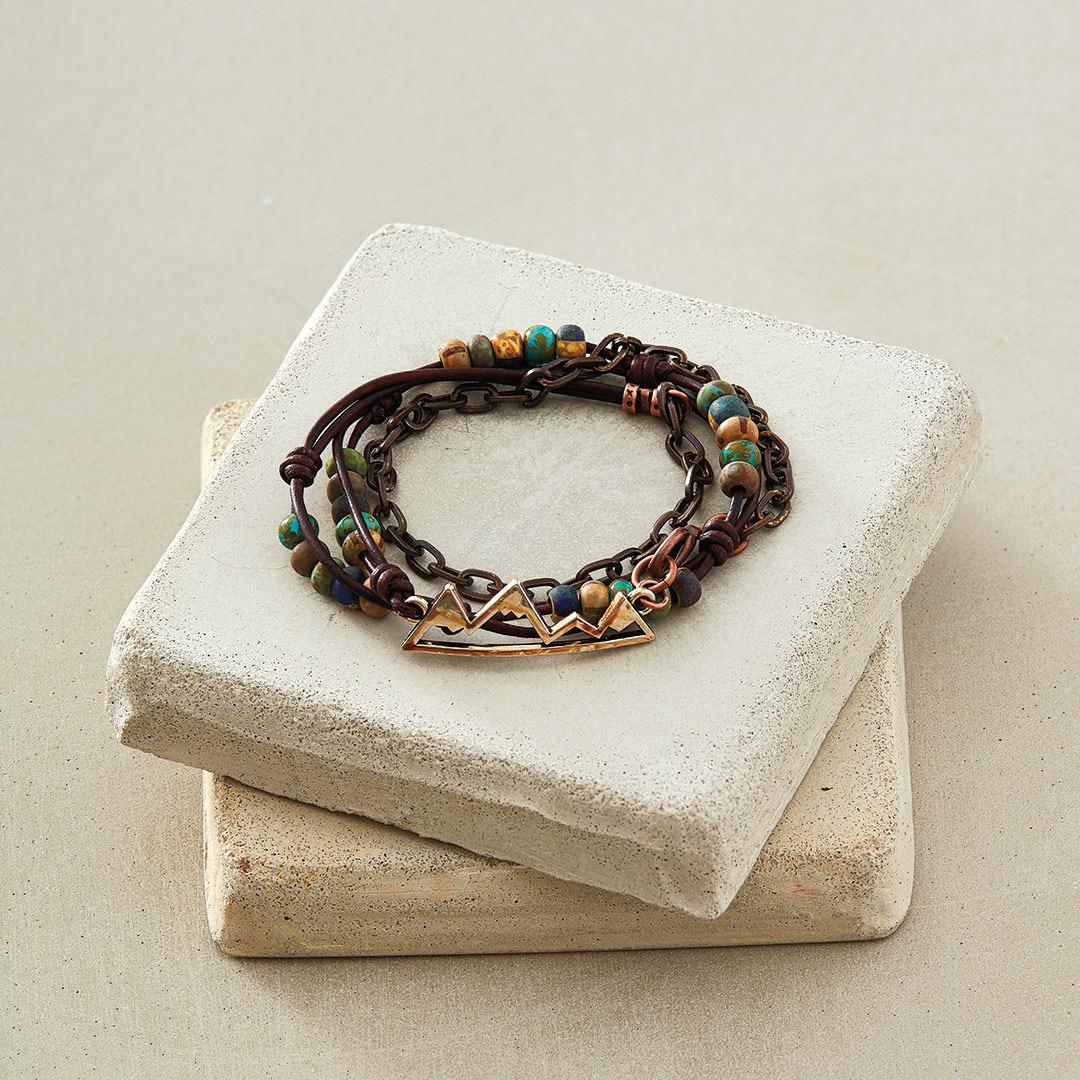 Timberline Wrap Bracelet by Kristina Hahn Eleniak