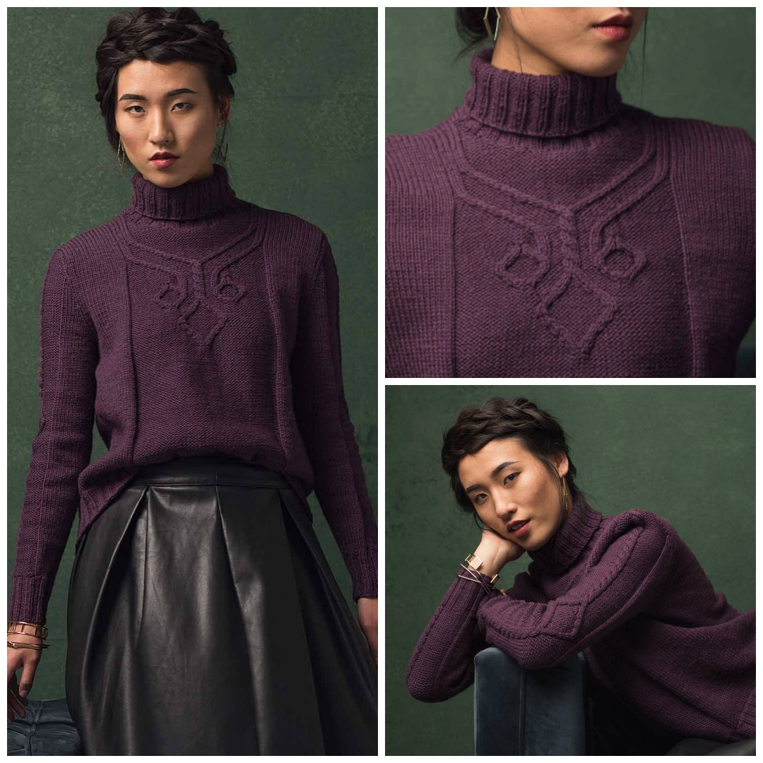 c144b9ddd2050 A unique cable motif adorns the chest of the Hansen Pullover