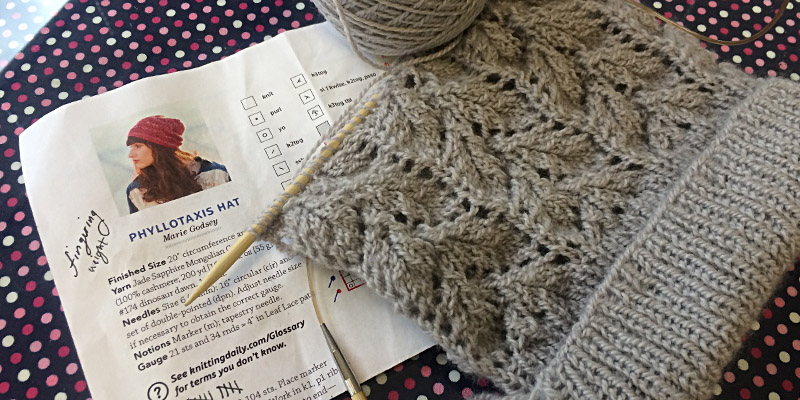 WIP Wednesday: Phyllotaxis Hat by Marie Godsey
