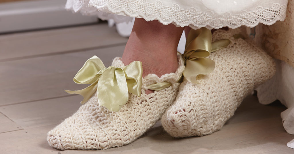 Ida McKinley's Crocheted Slippers