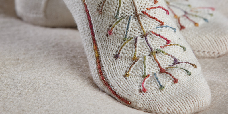 Fireworks Socks: Inspired by Traditional Knitting and Embroidery