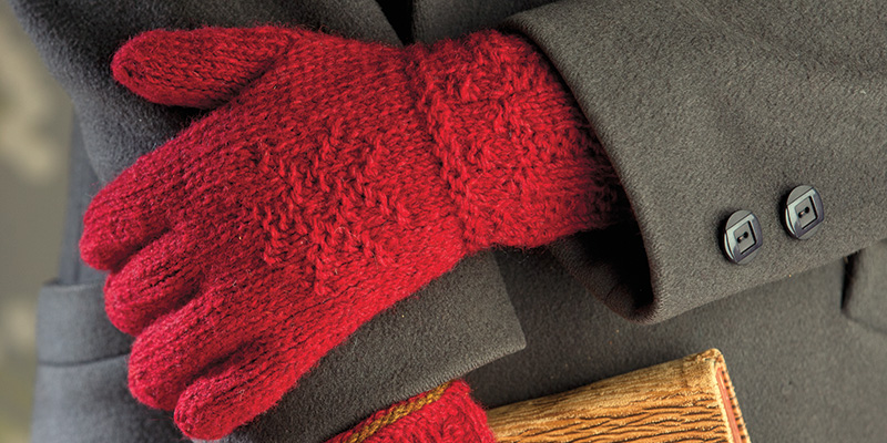 Twined-Knitted Gloves from Sweden