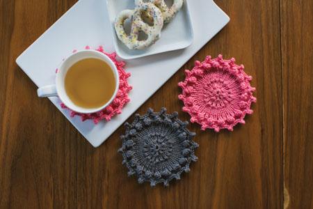 knit coaster pattern