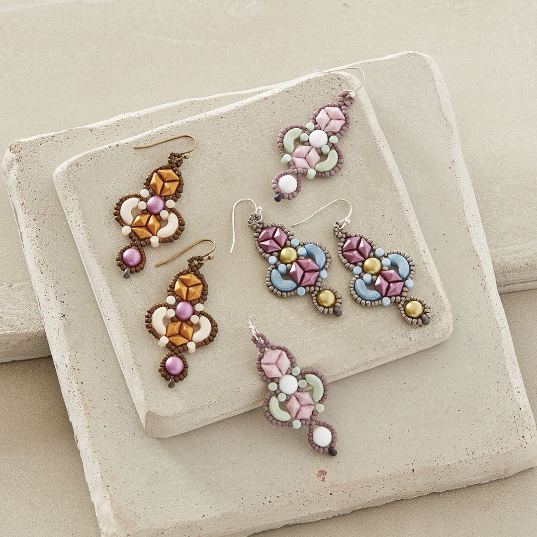 shaped beads projects: Arabesque Earrings