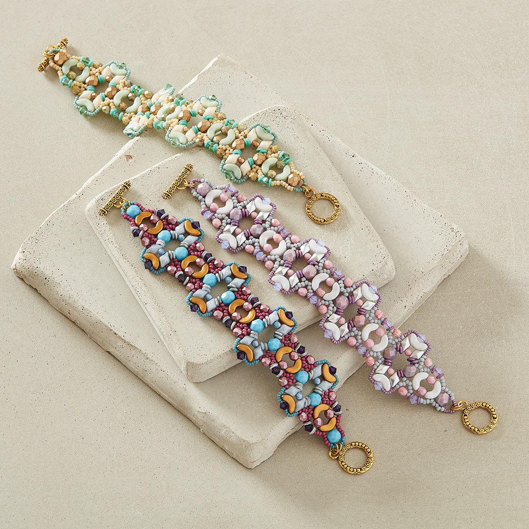 shaped beads projects: Wild Sage Bracelet