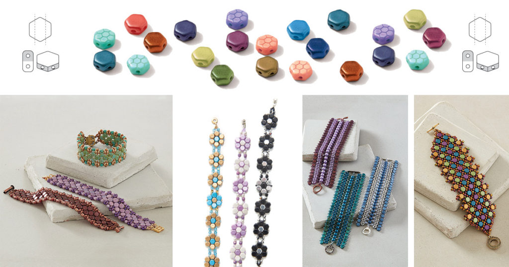 projects using honeycomb shaped beads